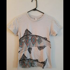 Fish graphic tee